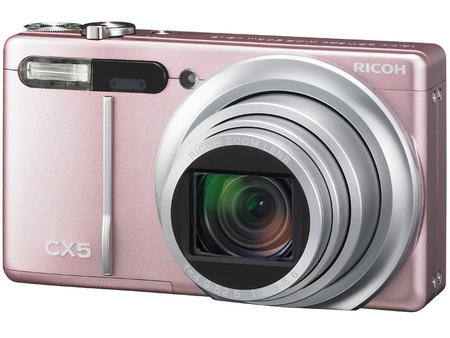 Ricoh CX5 Digital Camera with Hybrid AF System and 10.7x Optical Zoom pink
