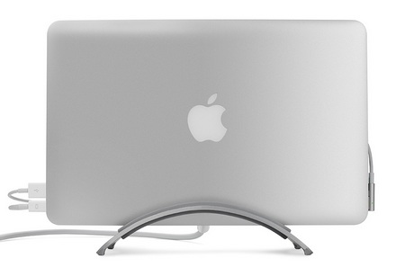 TwelveSouth BookArc for Air is a Vertical Stand for MacBook Air