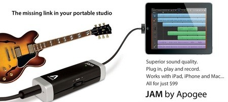 Apogee JAM Guitar Input for Mac and iOS devices 1