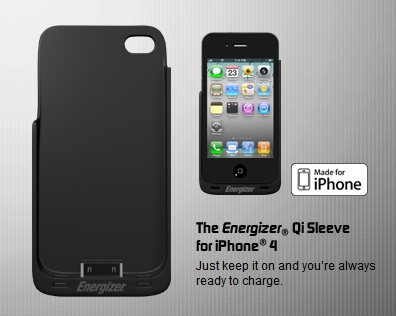 Energizer Qi Sleeves for iPhone 4