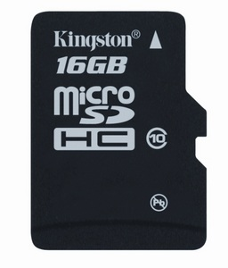 Kingston adds 4GB and 8GB Class 10 microSDHC Memory Card