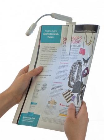 M-Edge e-Luminator Touch Booklight for E-book Reader with magazine