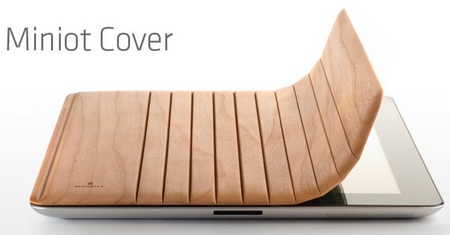 Miniot Real Wood Cover for iPad 2