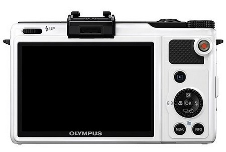 Olympus XZ-1 High-end Compact Digital Camera white back
