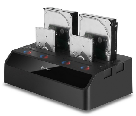 Sharkoon SATA QuickPort Quattro Quad-slot Hard Drive Dock with USB 3.0 and eSATA