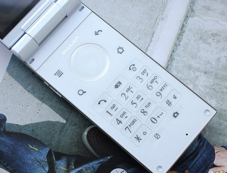Sharp SH7218U Clamshell Android Phone keypad