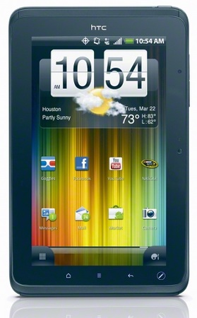 Sprint HTC EVO View 4G Android Tablet front