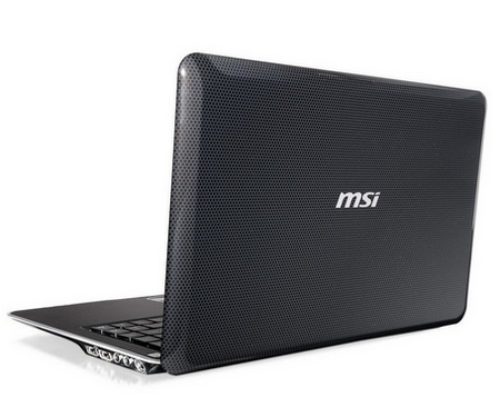 MSI X-Slim X370 AMD Fusion Notebook lid
