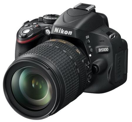 Nikon D5100 DSLR Camera angle