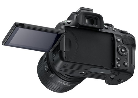 Nikon D5100 DSLR Camera rotating screen