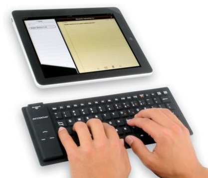 Scosche freeKEY Waterproof Bluetooth Keyboard with ipad