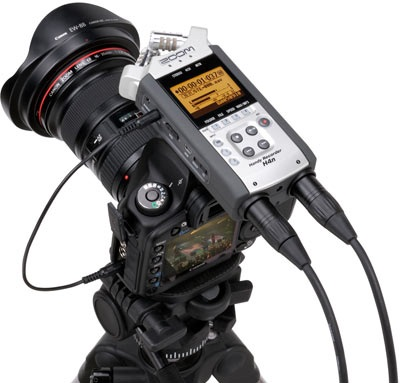 ZOOM H4n Handheld Recorder supports 4-channel Audio Recording with DSLR