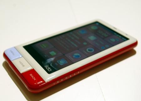 KDDI au iida INFOBAR A01 Android Smartphone hands-on 1