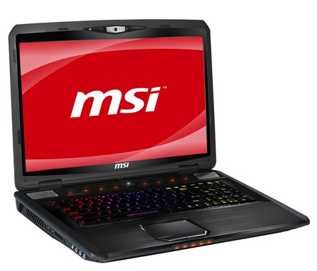 MSI GX780 Sandy Bridge Notebook with SteelSeries Backlight Keyboard 1