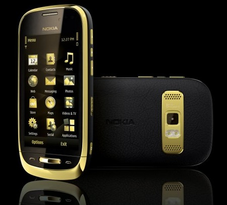 Nokia Oro with Premium Leather Back and 18 carat Gold Plating dark