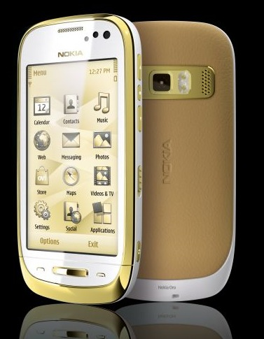 Nokia Oro with Premium Leather Back and 18 carat Gold Plating light