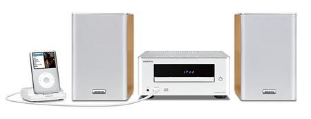 Onkyo X-U1 CD Audio System with iOS Device Dock white