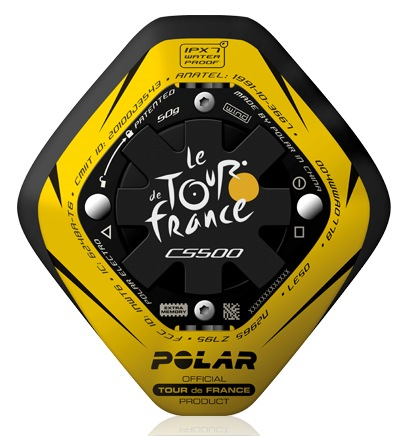 Polar Limited Edition CS500 Tour de France Training Computer back