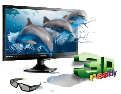 ViewSonic V3D245wm-LED 24-inch Display with built-in 3D Emitter