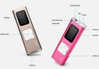 iRiver T9 MP3 Player with Shake to Skip Song buttons