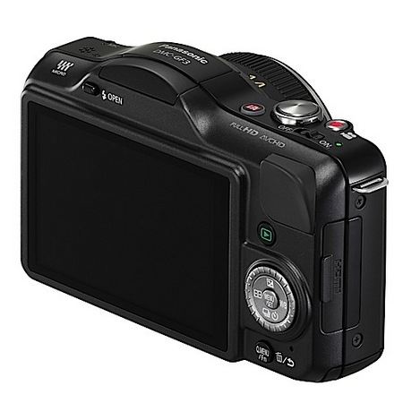 Panasonic LUMIX GF3 - the Company's Smallest and Lightest Micro Four Thirds Camera black side
