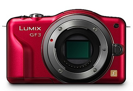 Panasonic LUMIX GF3 - the Company's Smallest and Lightest Micro Four Thirds Camera red no lens