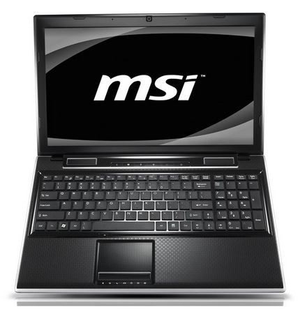 MSI FX620DX Sandy Bridge Notebook with Geforce GT540M 1