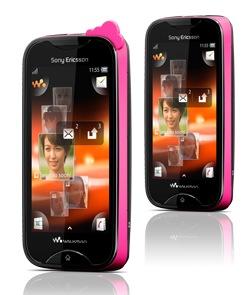 Sony Ericsson Mix Walkman Touchscreen Music Phone pink