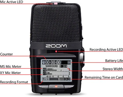 Zoom H2n Handy Recorder with Five Mic Capsules 1