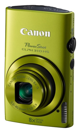 Canon PowerShot ELPH 310 HS 8x zoom compact digital camera green