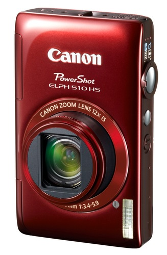 Canon PowerShot ELPH 510 HS 12x zoom compact digital camera red