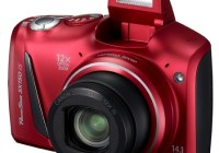 Canon PowerShot SX150 IS 12x Zoom Digital Camera red
