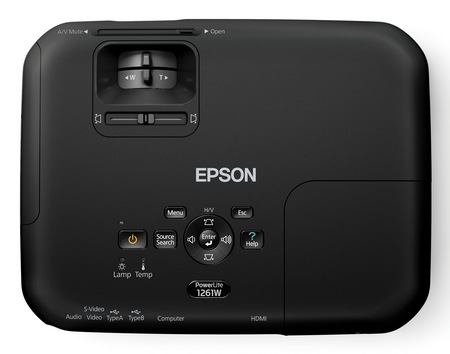 Epson PowerLite 1221 and PowerLite 1261W Portable Projectors top