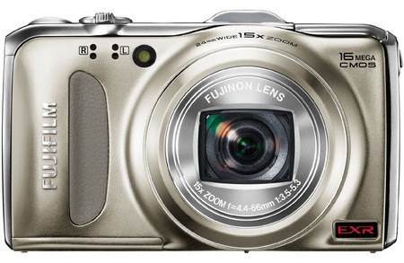 FujiFilm FinePix F600 EXR 15x Zoom Digital Camera champagne gold