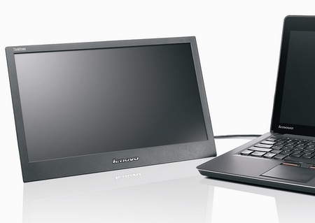 Lenovo ThinkVision LT1421 14-inch Mobile Monitor with a thinkpad