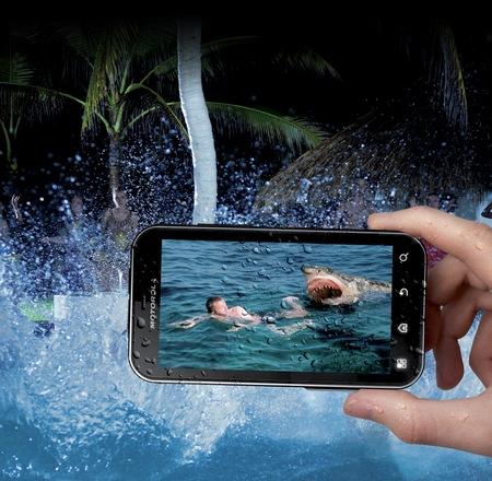 Motorola DEFY+ Rugged Android Smartphone Pool