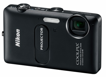 Nikon CoolPix S1200pj Digital Camera with built-in Projector black