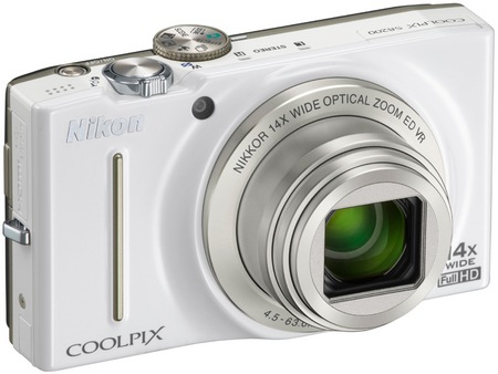 Nikon CoolPix S8200 Compact Camera with 14x Optical Zoom white