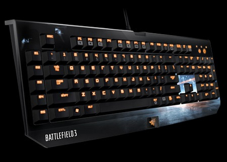 Razer BlackWidow Ultimate Battlefield 3 Edition Gaming Keyboard angle 1