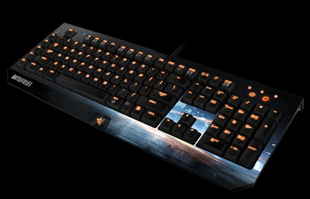 Razer BlackWidow Ultimate Battlefield 3 Edition Gaming Keyboard angle