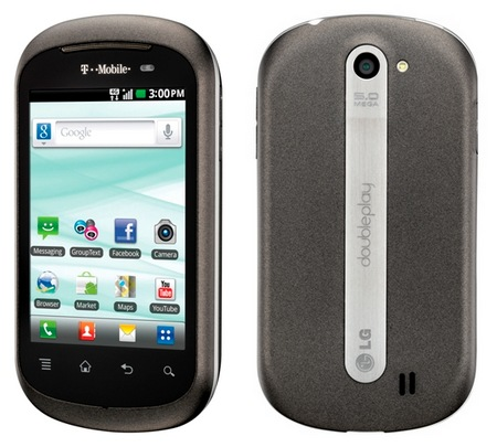 T-Mobile LG DoublePlay Android Phone with Split QWERTY Keyboard and Dual Touchscreens
