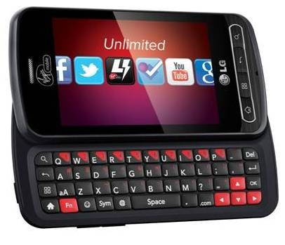 Virgin Mobile LG Optimus Slider QWERTY Smartphone