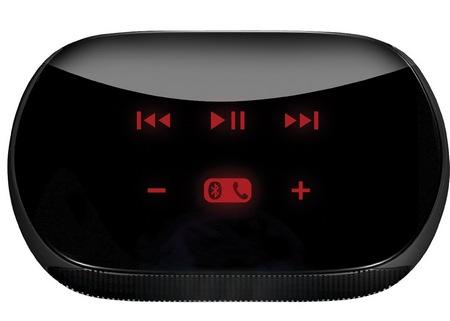 Logitech Mini Boombox Mobile Speaker-and-Speakerphone Combo touch panel