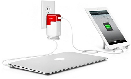 Twelve South PlugBug iPhone iPad Charger Attaches to MacBook Power Adapter in use
