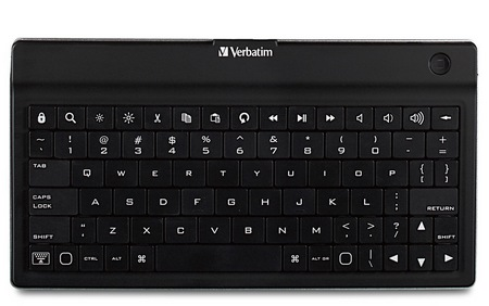 Verbatim Ultra-Slim Bluetooth Mobile Keyboard for Tablets front