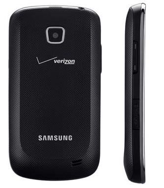 Verizon Samsung Illusion Mid-range Android Smartphone back side