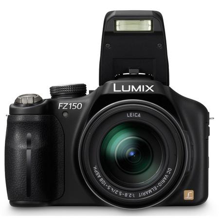 Panasonic Lumix DMC-FZ150 24x Super-Zoom Camera flash open