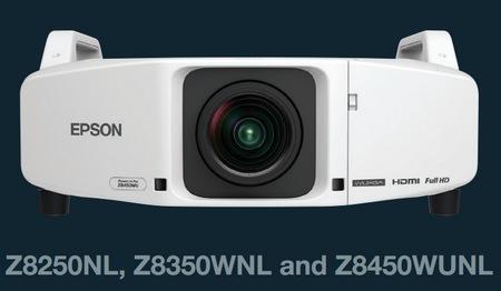 Epson PowerLite Pro Z8450WUNL, Z8350WNL, Z8250NLInstallation Projectors