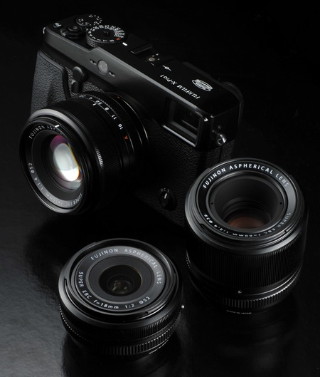 FujiFilm X-Pro 1 Interchangeable Lens Digital Camera with lenses