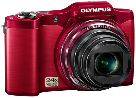 Olympus SZ-12 Compact Long Zoom Camera red